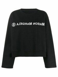 Mm6 Maison Margiela reverse logo sweatshirt - Black