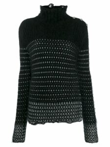 Balmain lurex knit jumper - Black