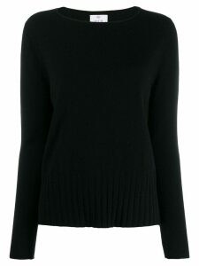 Allude round neck sweater - Black