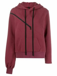 Unravel Project zip detail hoodie - Red