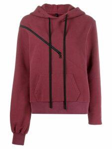 Unravel Project zip detail hoodie - Red