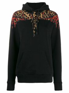 Marcelo Burlon County Of Milan Leopard Wings hoodie - Black
