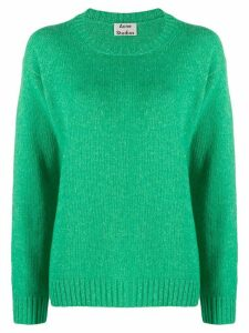 Acne Studios Samara crew neck knitted sweater - Green