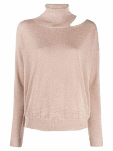 LIU JO cut-out turtleneck jumper - Pink