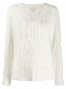 Michael Michael Kors oversized v-neck sweater - White