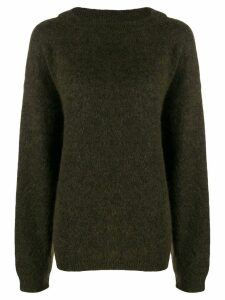 Acne Studios Dramatic Mohair knitted jumper - Green