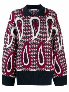 JW Anderson paisley long sleeve jumper - Blue