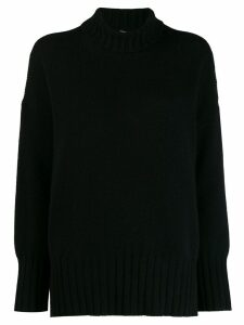 Massimo Alba oversized high-neck jumper - Black