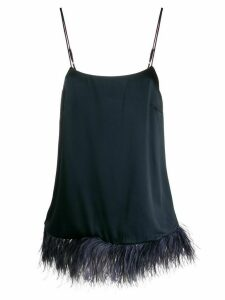 Semicouture feather trimmed cami top - Blue
