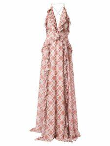 Jonathan Simkhai pleated ruffle details dress - PINK