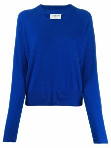 Maison Margiela cut-out detail jumper - Blue