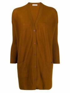 Gentry Portofino oversized cashmere cardigan - Brown