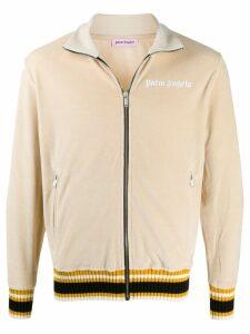 Palm Angels webbing stripe-trimmed track jacket - NEUTRALS