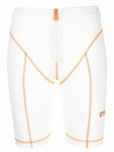 Heron Preston contrast-stitching cycling shorts - White