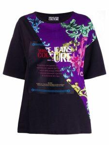 Versace Jeans Couture diagonal panel T-shirt - Black