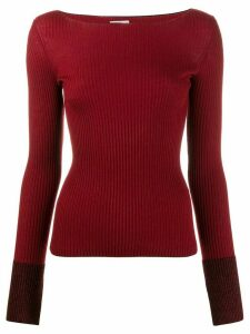 MRZ boat neck jumper - Red
