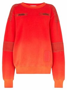 Ambush bleach patchwork sweatshirt - Orange