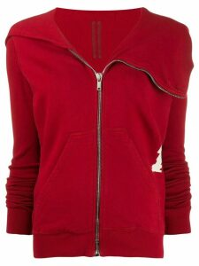 Rick Owens DRKSHDW zipped-up sweatshirt - Red