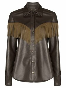 Skiim Lenny fringe detail shirt - Brown