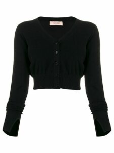 Twin-Set v-neck crop cardigan - Black