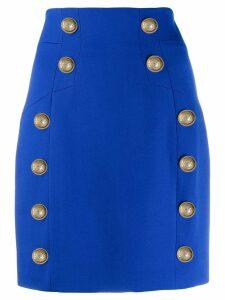Balmain button-detailed mini skirt - Blue