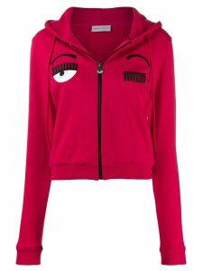 Chiara Ferragni Flirting zipped hoodie - Red