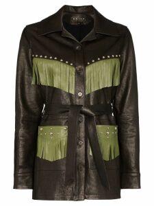 Skiim Billy fringed trim jacket - Black