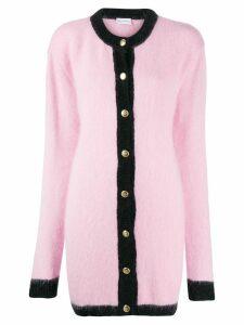 Chiara Ferragni oversized contrast cardigan - PINK