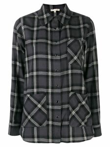 Gold Hawk plaid print shirt - Grey