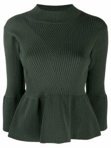 Zucca peplum knit jumper - Green