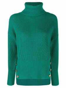 Elisabetta Franchi button-detail jumper - Green