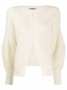 Federica Tosi front slit jumper - White