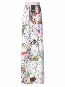 Mary Katrantzou 'Midlar' long skirt - PINK