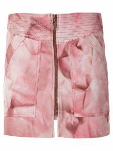 Andrea Bogosian Plata leather skirt - PINK