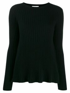 Allude ribbed design jumper - Black