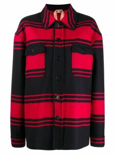 Nº21 oversized striped woven shirt - Red