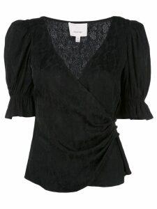Cinq A Sept wrap front blouse - Black