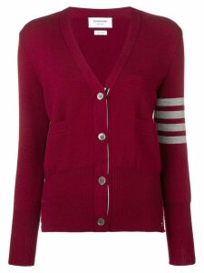 Thom Browne 4-Bar Milano Cardigan - Red