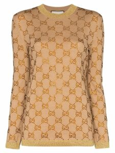 Gucci GG logo jacquard sweater - NEUTRALS