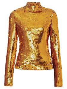 Burberry Sequinned Turtleneck Top - Gold