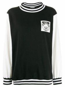 Moschino toy bear logo patch sweatshirt - Black
