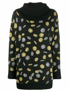 Moschino coin intarsia jumper - Black