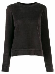 Allude colour block knitted top - Grey