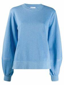 Ganni bell sleeve sweatshirt - Blue