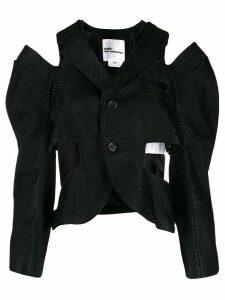Comme Des Garçons Noir Kei Ninomiya cut-out waistcoat blouse - Black