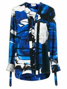 Alexander McQueen rose print shirt - Blue
