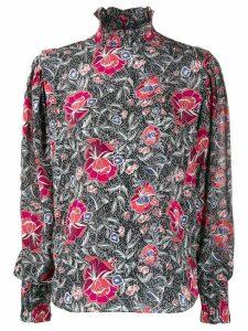 Isabel Marant Étoile Yoshi city floral print shirt - Black