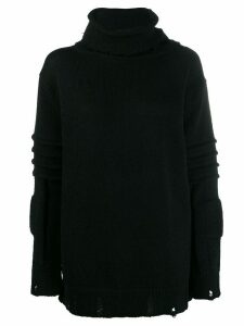 Ambush roll neck jumper - Black