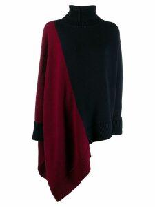 Monse asymmetric hem color-block sweater - Blue