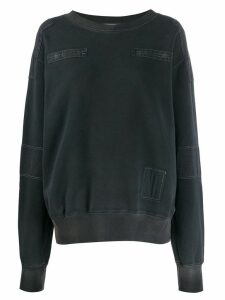 Ambush patchwork sweatshirt - Black